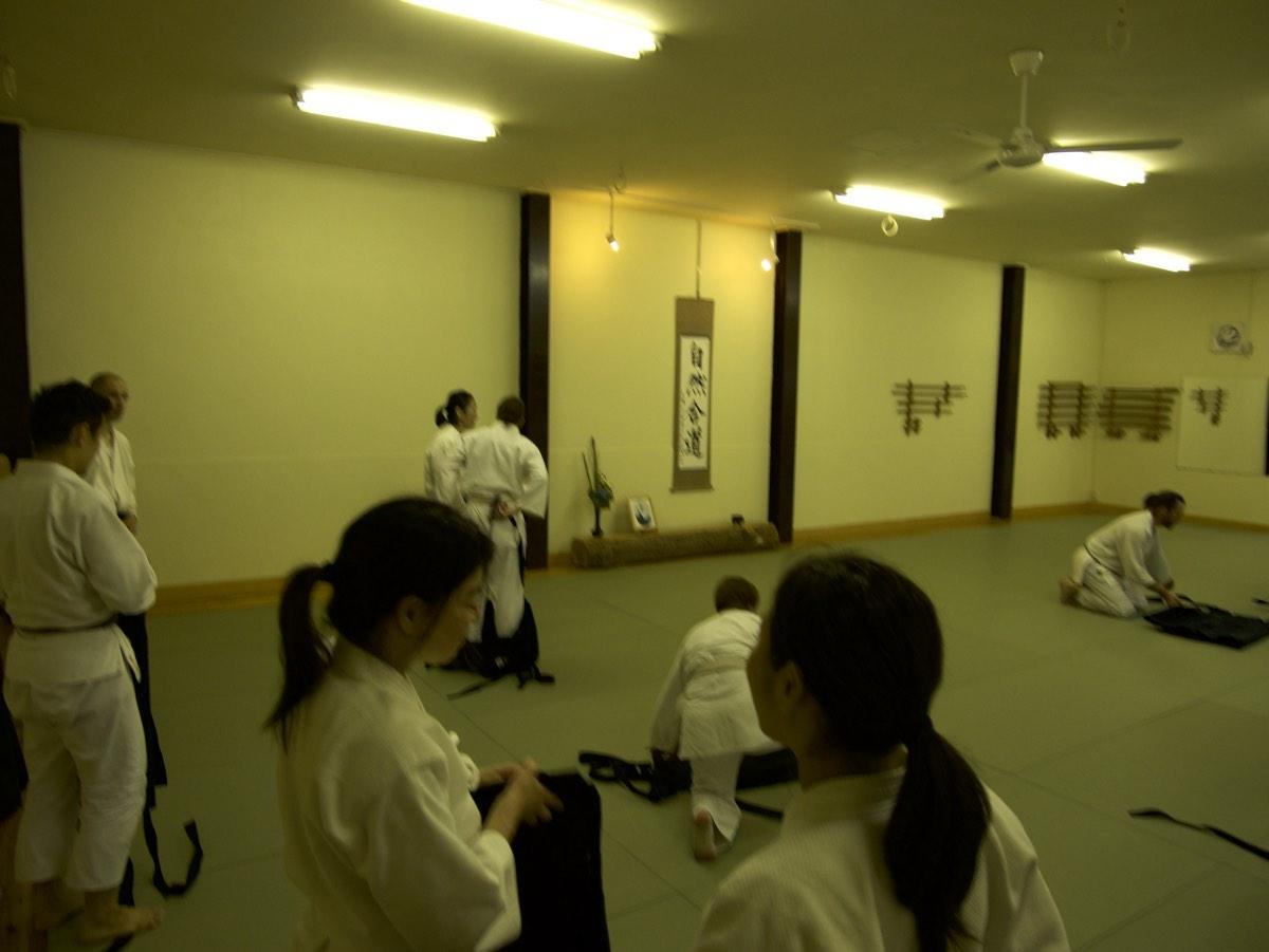 Aikido Kyoton tatami treenien jälkeen.